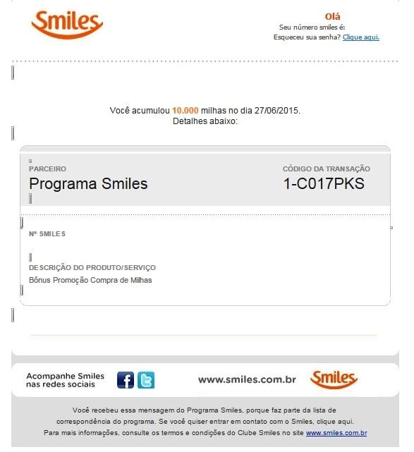 Smiles millas bonus email