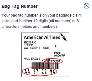 Ejemplo codigo equipaje para rastreo