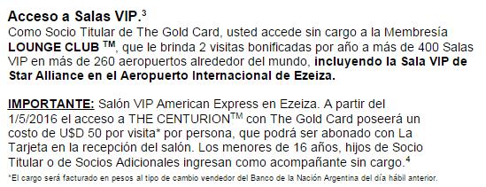 AMEX_Gold_Card_Se_Renueva_Cobra_USD_50_Sala_VIP_Centurion_Ezeiza