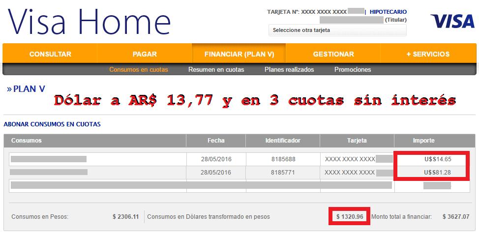VISA_Cotizacion_Dolar_Argentina_ARS_13.77_3_cuotas_sin_Interes_2016.06.07