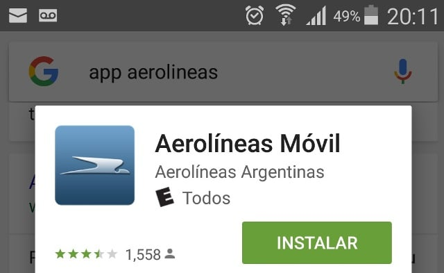App_Android_Aerolineas_Argentinas