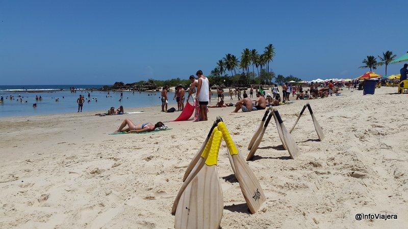 Hay una buena extensión de playa para tirarse, caminar o practicar juegos