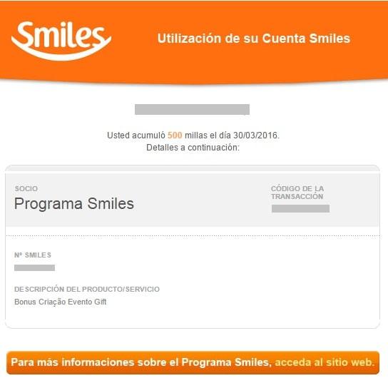 Gift_Smiles_Evento_Creado_500_millas_Bonus_Recibidas