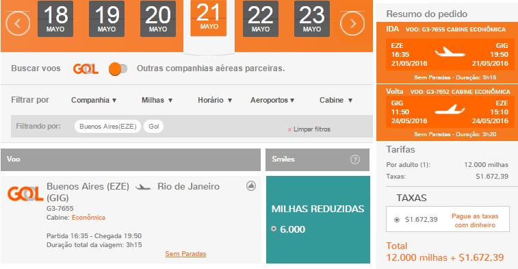 Smiles_Canjes_BUE-RIO_Directos_12.000_Millas_2016.05