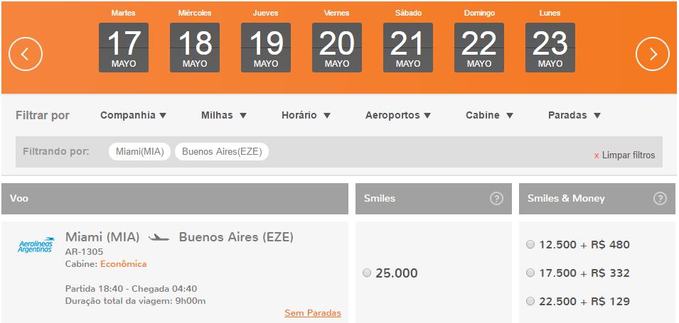 Volvieron_Vuelos_De_Aerolineas_Argentinas_A_Smiles_2016.05.06_Miami_25.000_Millas_Tramo