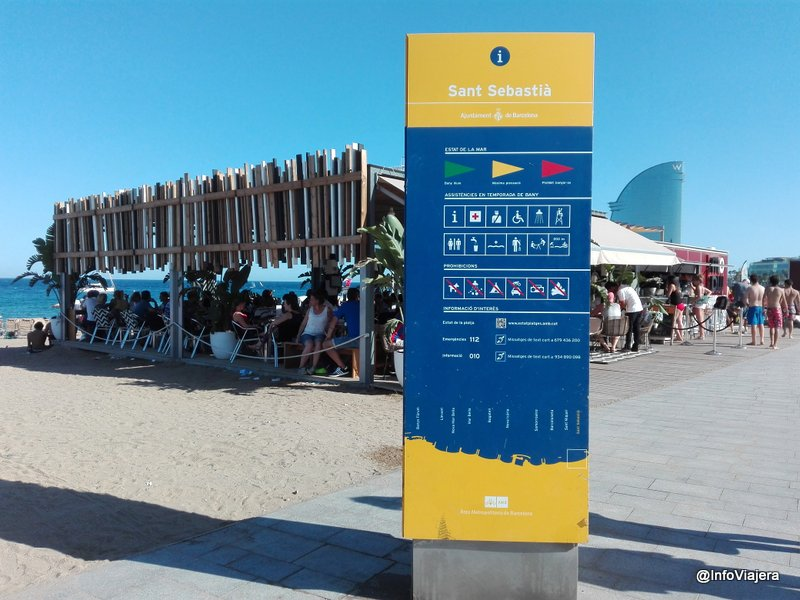 Barcelona_Playa_Sant_Sebastia_Bandera_Amarilla_Medusas