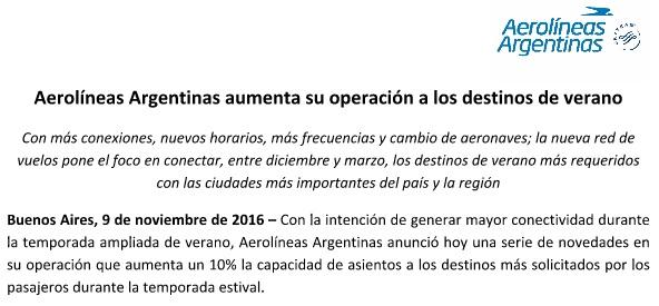 aerolineas_argentinas_comunicado_destinos_verano_frecuencia_flota