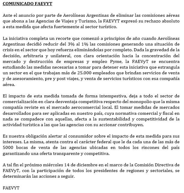 comunicado_faevyt_aerolineas_argentinas_reduce_comisiones